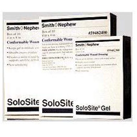 Smith & Nephew 5459482300 Solosite 2 x 2 Inch Gel Conformable Dressing - Box of 10 by Solosite Nephew Solosite Gel