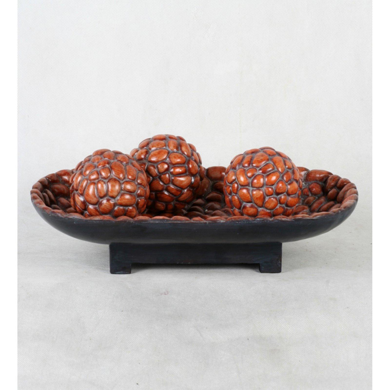 Privilege International 3 Sphere Decorative Bowl