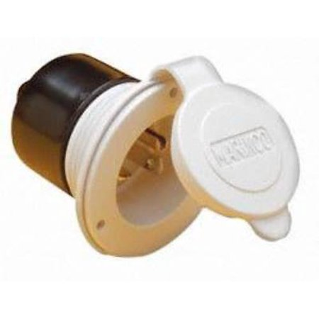 On-Board Charger Inlet, White, 15A