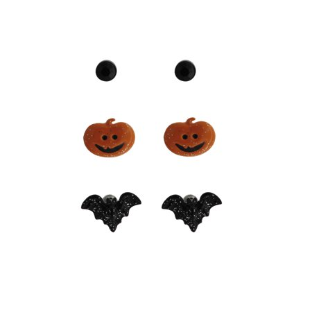 Halloween Novelty Trio Bat Earring
