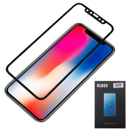 the best attitude 94d1e a28f3 iPhone XS Max Screen Protector, [2 Pack] 6D Curved Edge Full Coverage  Tempered Glass Guard Full Protection Glass Screen Film Compatible for Apple  ...