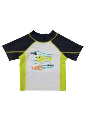 Infant & Toddler Boys Fish Skeletons Rash Guard Swim Shirt