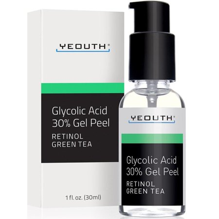 YEOUTH Glycolic Acid Peel 30% Professional Chemical Face Peel with Retinol, Green Tea Extract, Acne Scars, Collagen Boost, Wrinkles, Fine Lines, Sun or Age Spots, Anti Aging, Acne - 1 fl oz