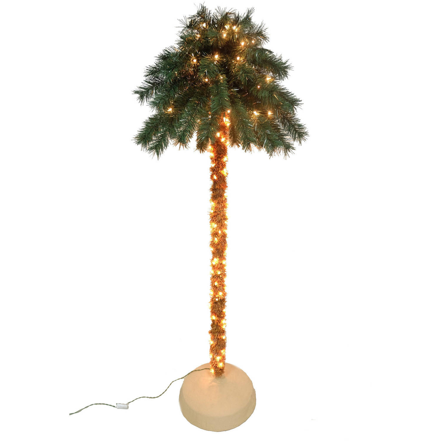 holiday time artificial christmas trees pre lit 6 palm artificial tree clear lights walmartcom - Christmas Tree Palm