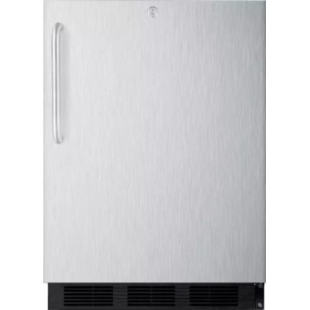 Summit SPR7OSSTADA 24 Inch Wide 5.5 Cu. Ft. Capacity Free Standing Outdoor Refrigerator with Factory Installed (Best 30 Inch Wide Refrigerator)