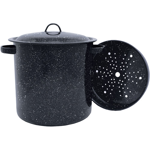 Granite Ware 15.5-Quart Tamale Pot with Lid and Steamer