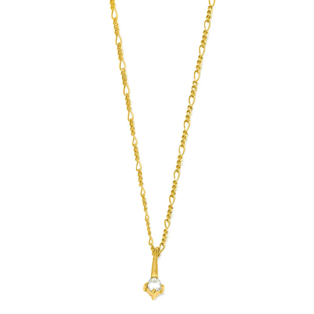 18in Gold-plated Drop CZ Necklace