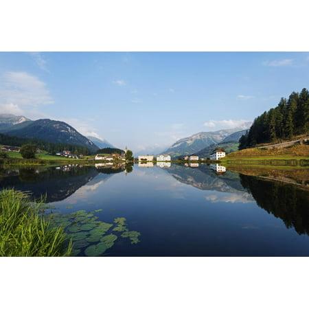 Alpine Village, Scuol Tarasp, Engadine, Graubunden, Switzerland, Europe Print Wall Art By Christian