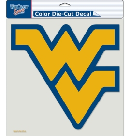 "West Virginia Mountaineers Die-Cut Decal - 8""x8"" Color"
