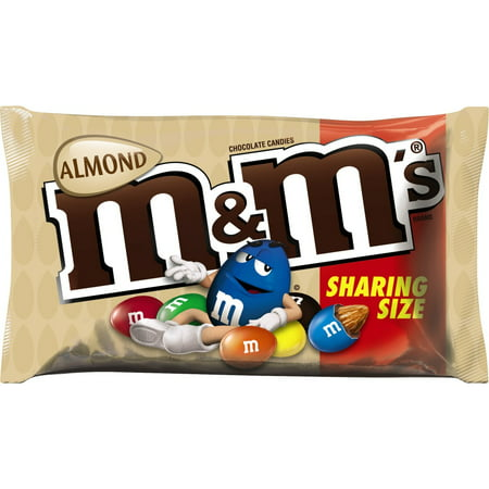 M&M'S Almond Chocolate Candy Sharing Size Pouch, 2.83 oz