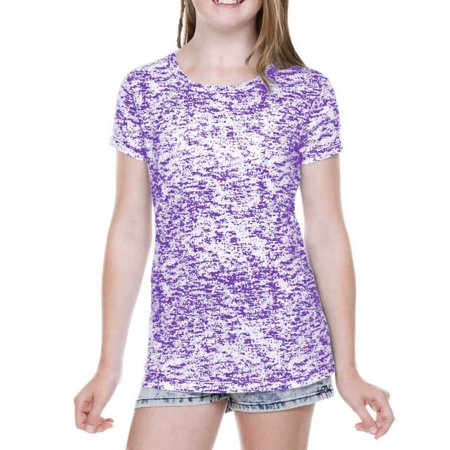Kavio! Girls 7-16 Static Jersey Print Crew Neck Short Sleeve Grape XL](Hot Xl Girl)