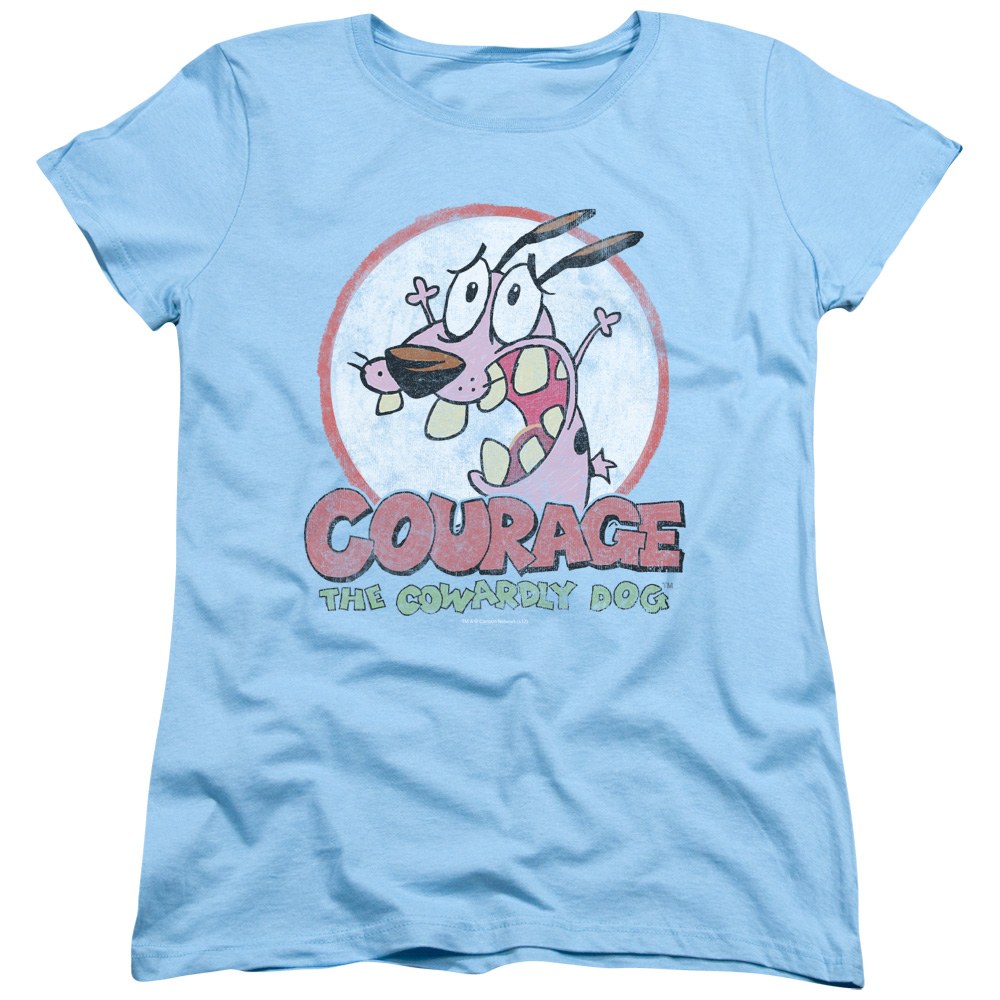 Courage The Cowardly Dog Vintage Courage Womens Short Sleeve Shirt