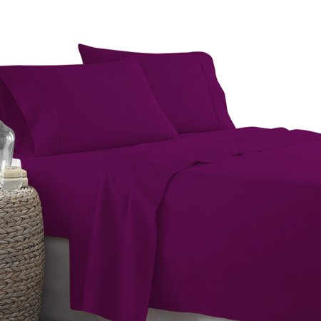 Sleeper Sofa Sheets Twin Size (36 x 72 + 5 Inch Deep) (Solid Purple) - 1800 Series Double Brushed Microfiber, Super Soft, Wrinkle & Fade Resitant Sofa Bed Sheets By The Great American Store