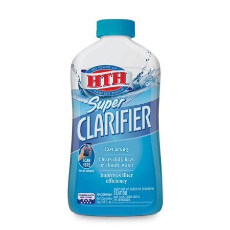 HTH Super Clarifier for Swimming Pools, 1 qt.