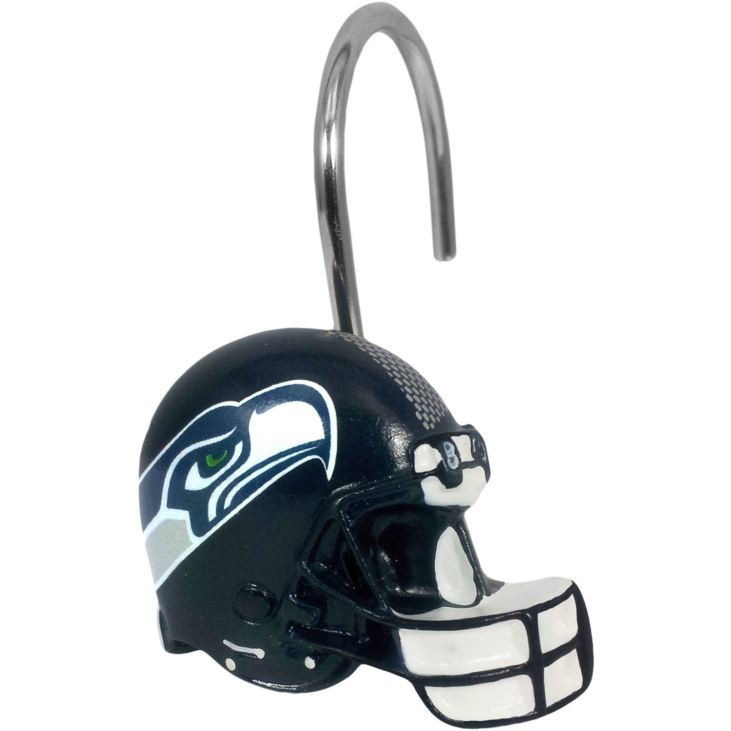 NFL Seattle Seahawks Decorative Bath Collection - 12pc Shower Hooks