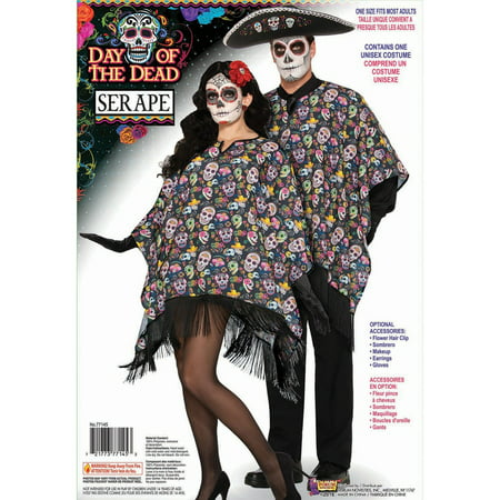 Halloween Day Of The Dead Serape Adult (Everyday's A Party Halloween Costumes)