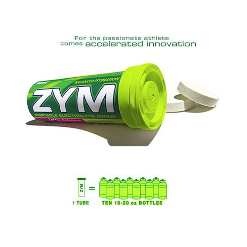 ZYM Portable Electrolyte Drink - Lemon/Lime - 3 Tubes