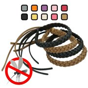 Original Kinven Mosquito Insect Repellent Bracelet Waterproof Natural DEET FREE Insect Repellent Bands, Anti Mosquito Killer Protection Outdoor & Indoor, Adults & Kids, 4 bracelets, in Brown/Black