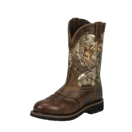 Justin Work Boots Mens Stampede Rugged Waterproof Western