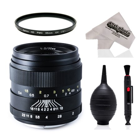 Oshiro 35mm f/2 LD UNC AL Wide Angle Full Frame Prime Lens with UV for Canon EOS 80D, 70D, 60D, 60Da, 50D, 7D, 6D, 5D, 5Ds, 1Ds, Rebel T6s, T6i, T6, T5i, T5, T4i, T3i, T3 and SL1 Digital SLR (Best Prime Lens For Canon 80d)