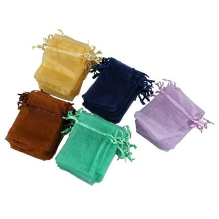Sodial 100 X Organza Wedding Favour Bags Jewellery Pouches 7cm 9cm