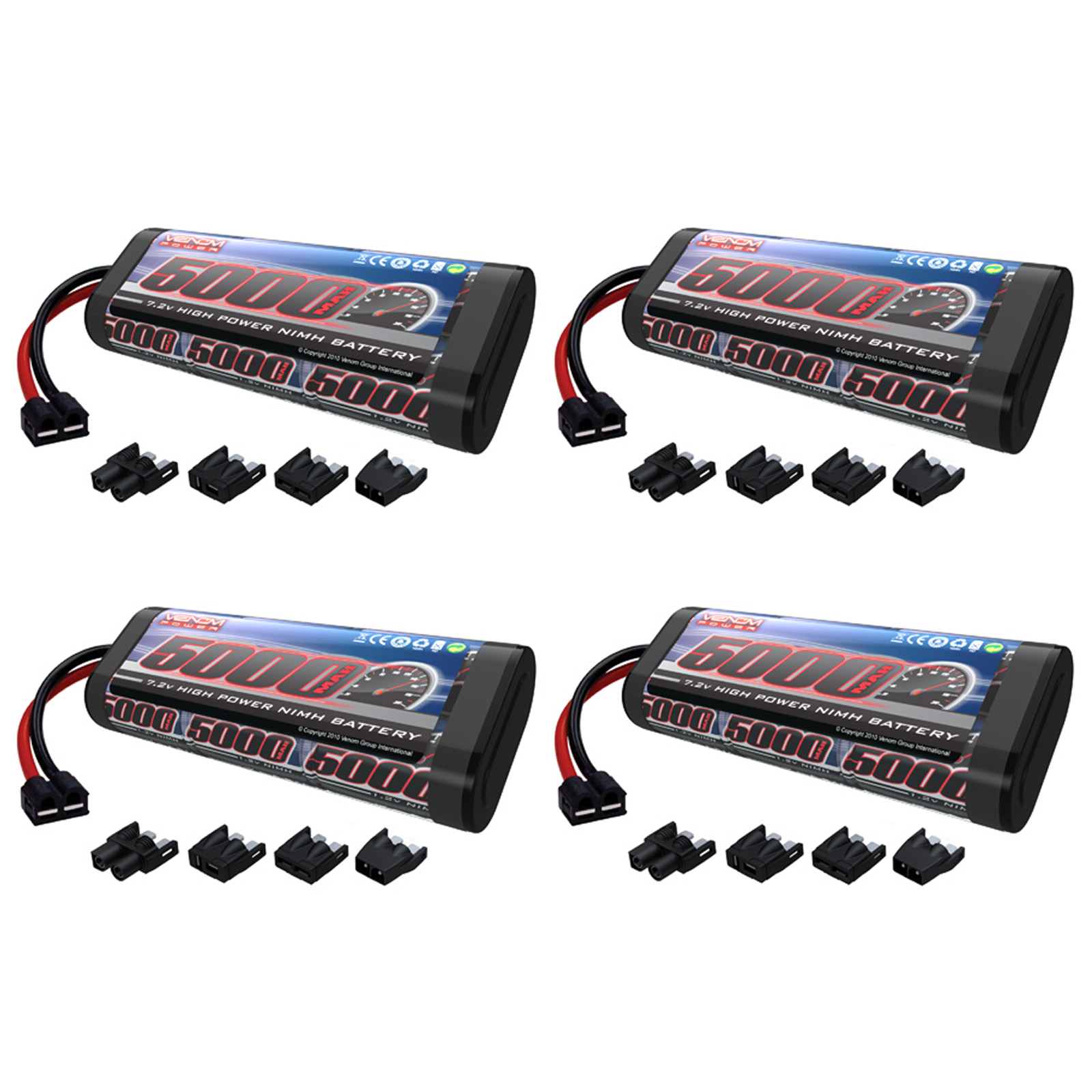 VENOM 7.2V 5000mAh 6-Cell NiMH Battery with Universal Plu...