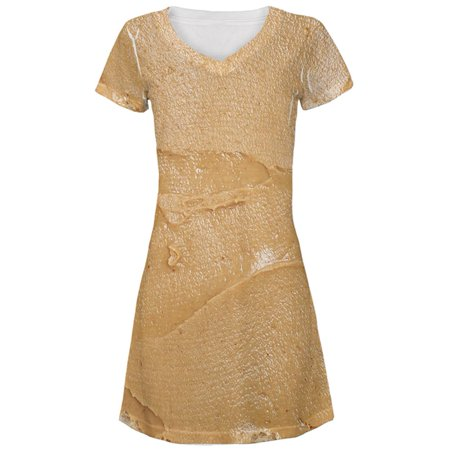 This Is Halloween Female Cover (Halloween Peanut Butter PB Sandwich Costume All Over Juniors Beach Cover-Up)