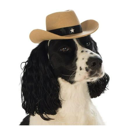 Halloween Cowboy Pet Hat Brown