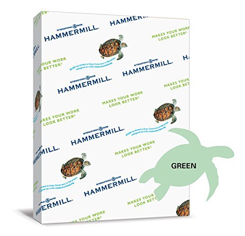 Hammermill Paper, Colors Green, 20lb, 8.5 x 14, Legal, 500 Sheets / 1 Ream (103374), Made In The USA