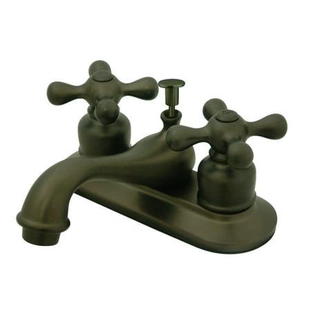 Kingston Brass KB605AX 4 Inch Centerset Lavatory Faucet Oil Rubbed Bronze