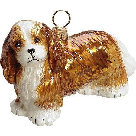 Cavalier King Charles Spaniel Blenheim Dog Polish N Gl Christmas Ornament