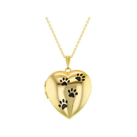 - My Dog Paw Prints Animal Love Photo Pendant Heart Locket Necklace 19