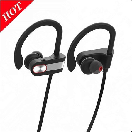 Bluetooth Headphones Wireless Earbuds IPX6 Waterproof HD Stereo Sweatproof Sports Earphones Music Headset with Mic, 8 Hrs Working Time for Running Gym Workout bluetooth earpiece fit for iPhone