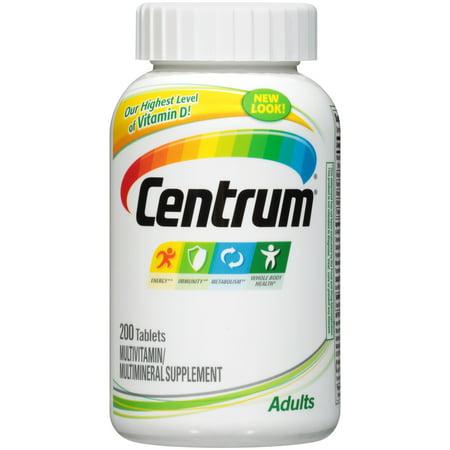 Centrum Adult (200 Count) Multivitamin / Multimineral Supplement Tablets, Vitamin D3