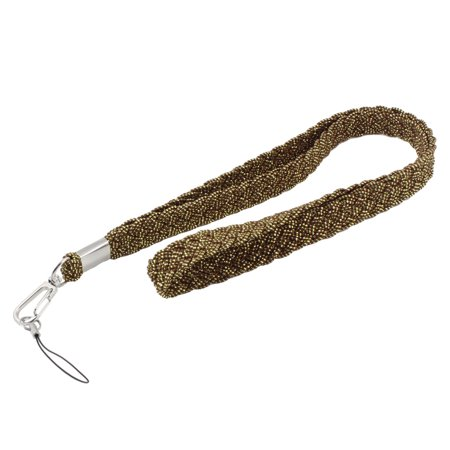 MP4 Cell Phone Work Cards Olive Green Braided Neck Strap Lanyard - Glow In The Dark Lanyard