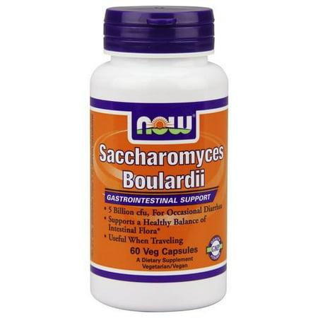 NOW Foods Probiotiques Saccharomyces boulardii 5 milliards UFC - 60 capsules végétariennes