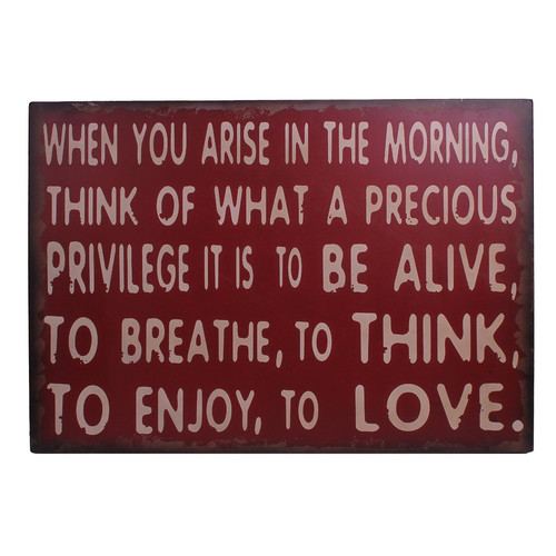 Attraction Design Home ''When You Arise in the Morning'' Antique Wisdom Sign Wall D cor