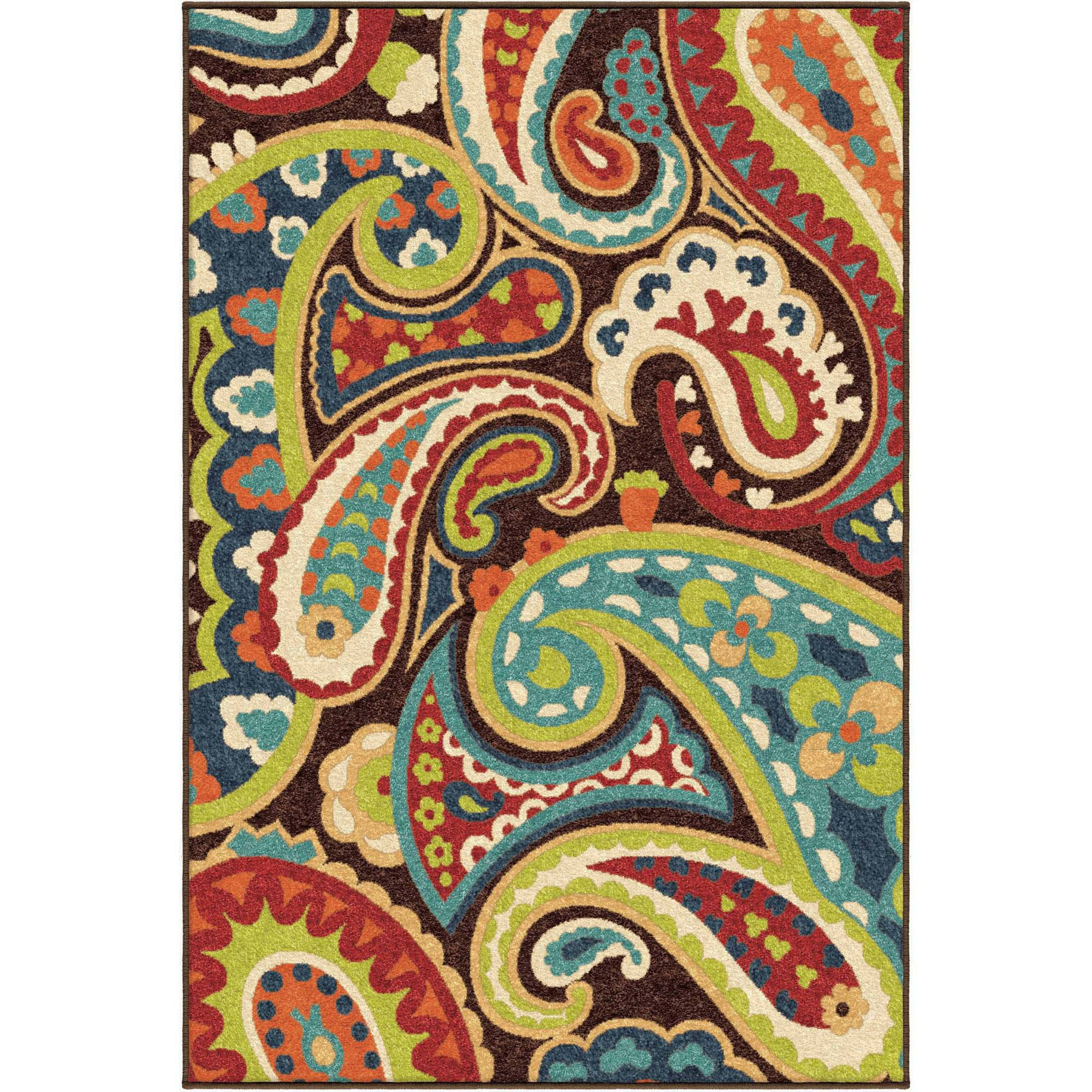 Orian Rugs Bright Colors Paisley Monteray Indoor Outdoor Area Rug