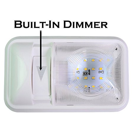 12V Led RV Ceiling Dome Light RV Interior Lighting for Trailer Camper with Dimmer, Single Dome 280LM (1)