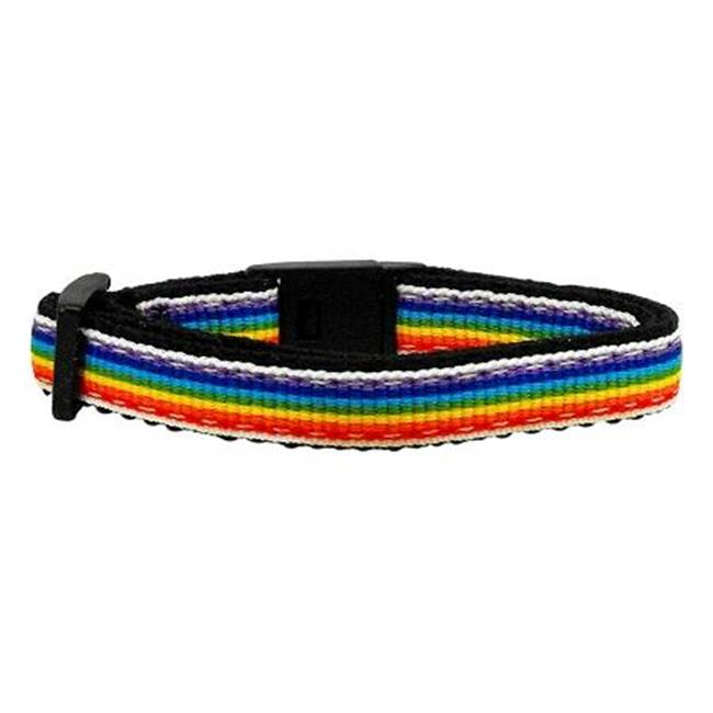 Rainbow Striped Nylon Collars Rainbow Stripes Cat Safety