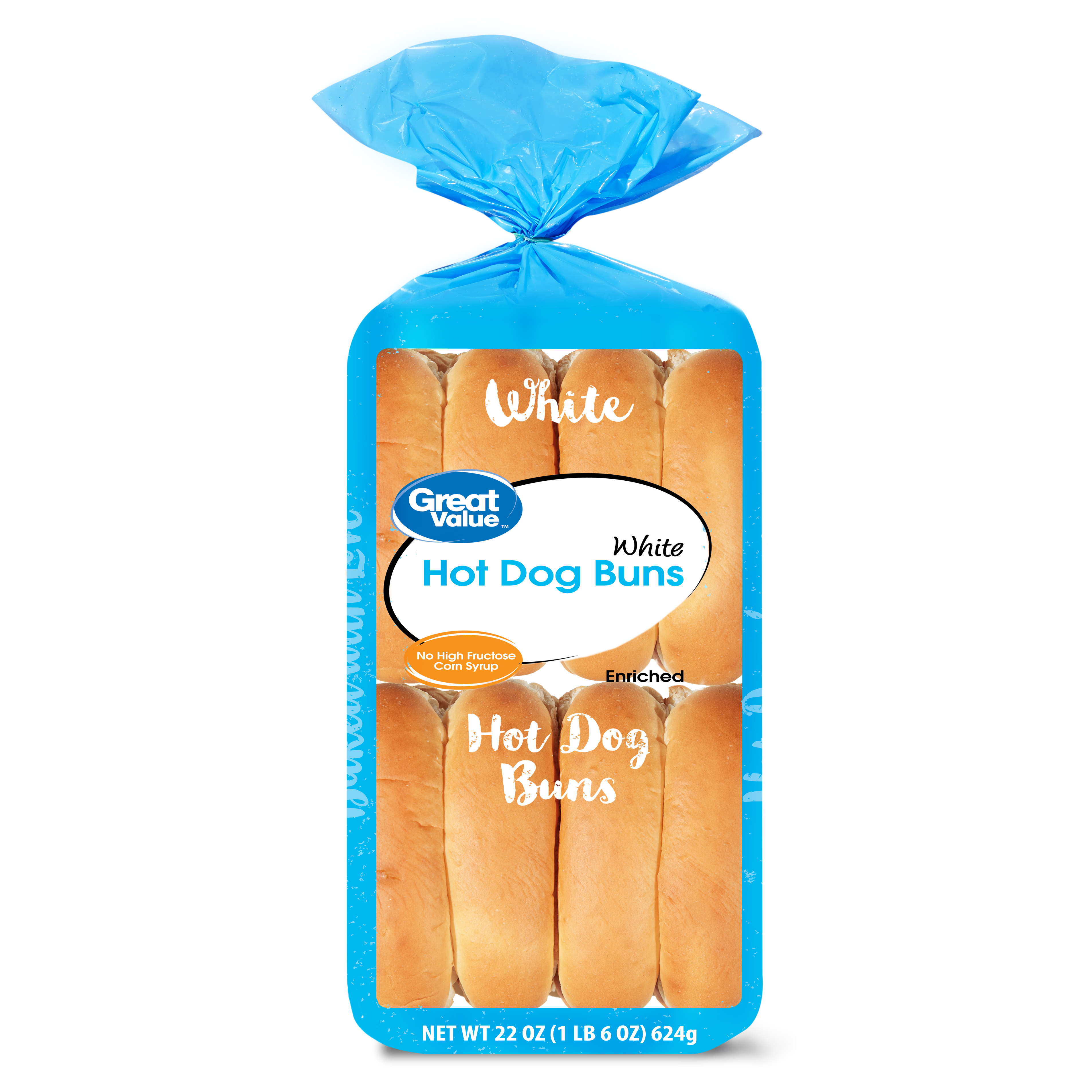 Great Value Hot Dog Buns, 22 oz, 16 count