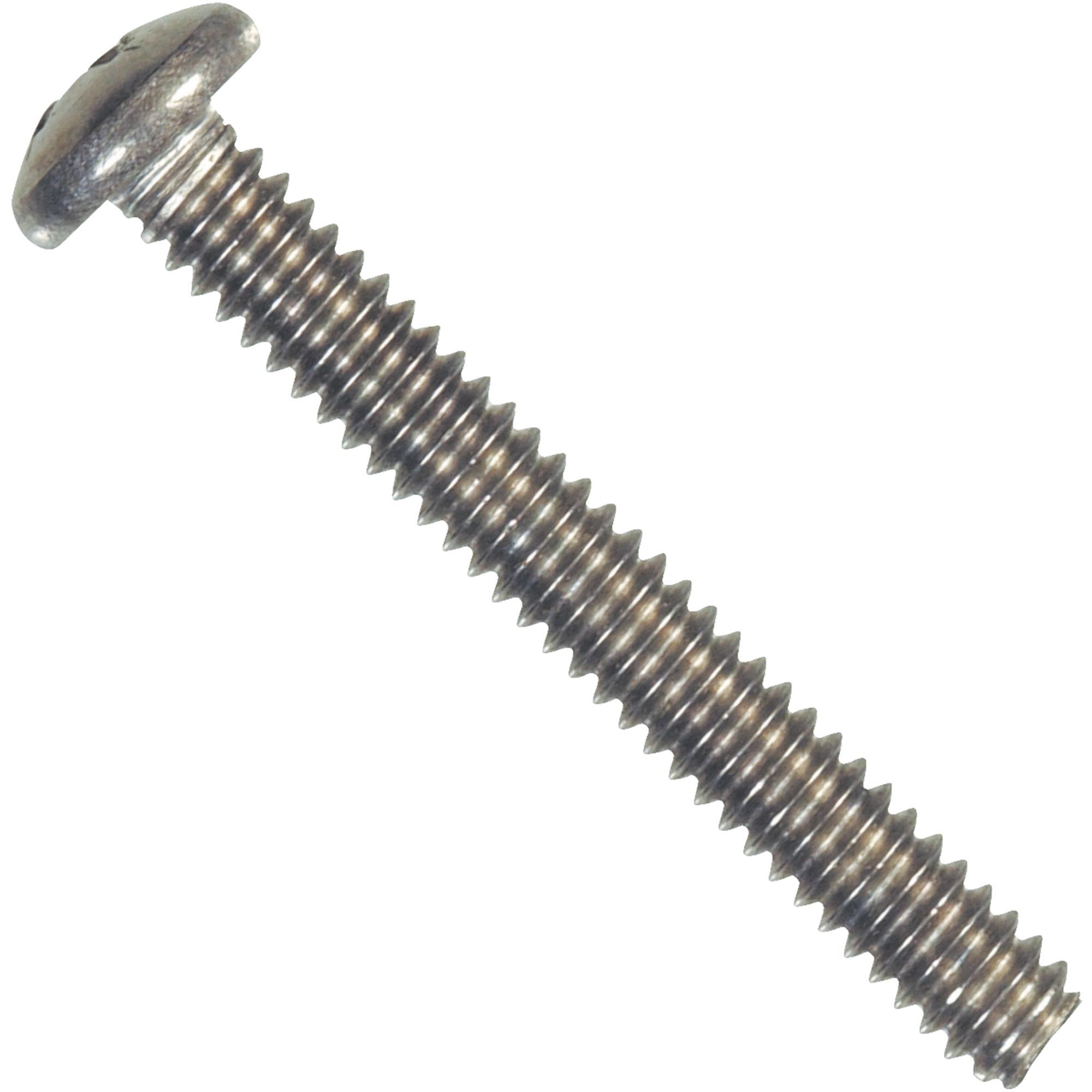 Hillman Fasteners 828588 Machine Screws, Phillips Pan Head, Stainless Steel, 1/4-20 x 3/4-In., 100-Pk. - Quantity 1