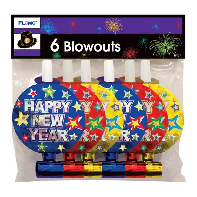 Eros F01-NY371 Hologram Printed New Years Party Blowers -...