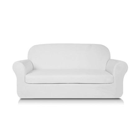 subrtex-2-piece-knit-jacquard-spandex-stretch-sofa-slipcover-(loveseat,-white) by subrtex