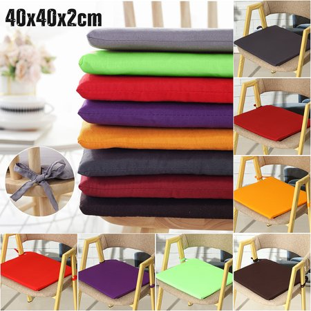 Seat Cushions Dining Chairs - 15x15x0.8inch Soft Chair Seat Pads Cushion Sit Mat With Tie For Dining Garden Park
