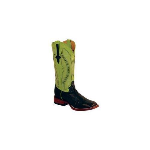 Ferrini 8019304100B Ladies Full Quill Ostrich Square Toe Boots, Black 10B by