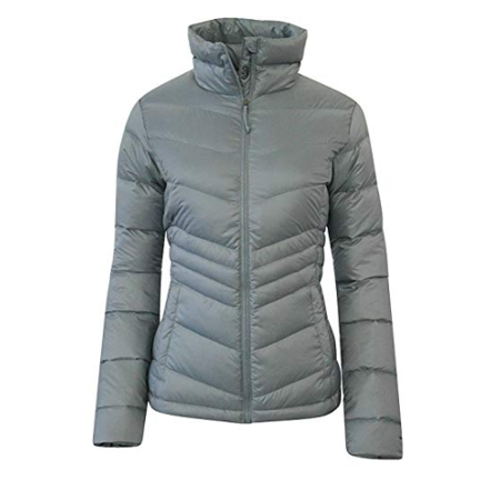 Columbia Womens Polar Freeze Ski Down Winter Jacket Omni Heat (M, LIGHT GREY) (Womens Columbia Omni Heat Jacket)