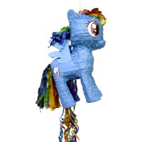 Rainbow Dash My Little Pony Pinata, Pull String, 18in x 11.75in