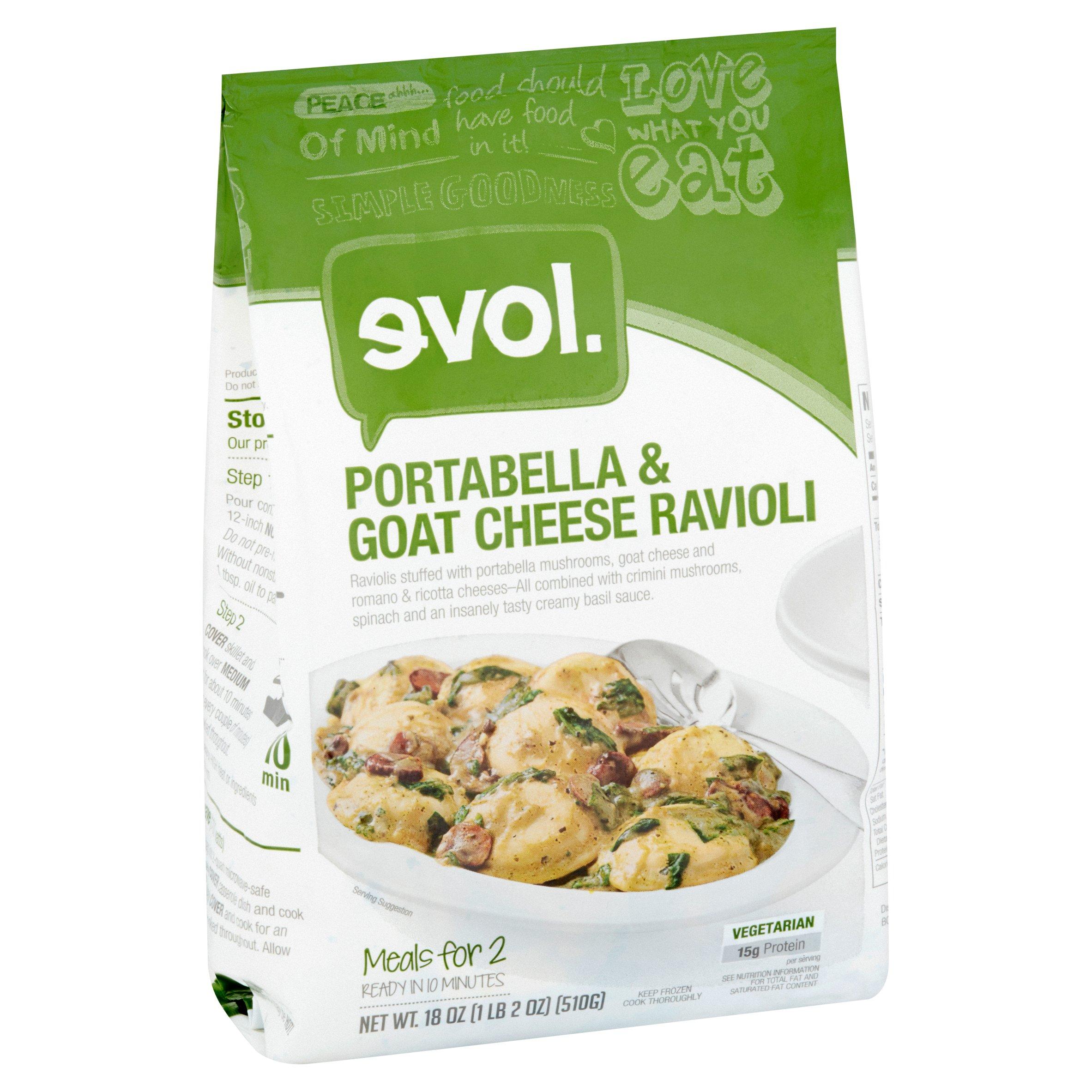 evol. Portabella & Goat Cheese Ravioli, 18 oz - Walmart.com