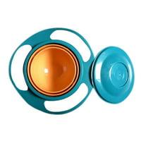 Infant Toddler Kids Baby Spill-Proof Feeding Bowl 360°Rotating Gyro-Bowl